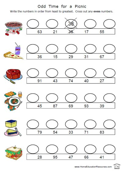 Odd And Even Worksheets – Home Education Resources