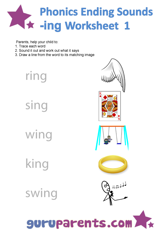 Phonics Worksheets – Ending Sounds