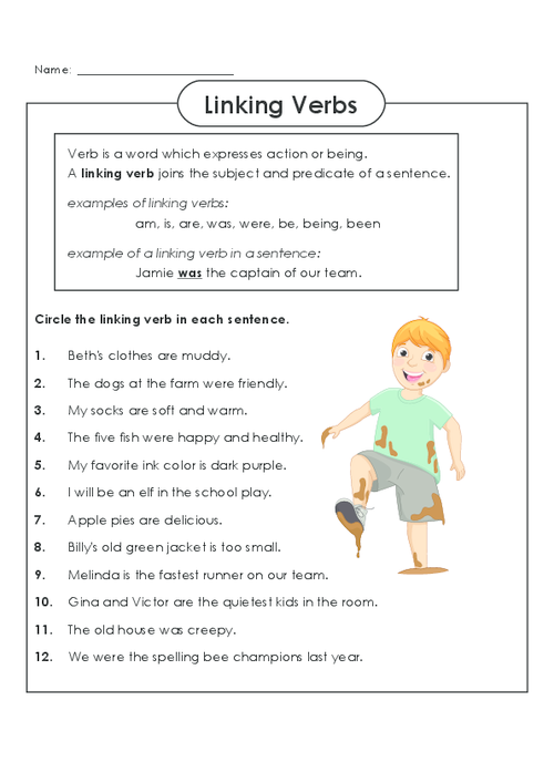 Practice Identifying Linking Verbs Today!  Freeenglishworksheets
