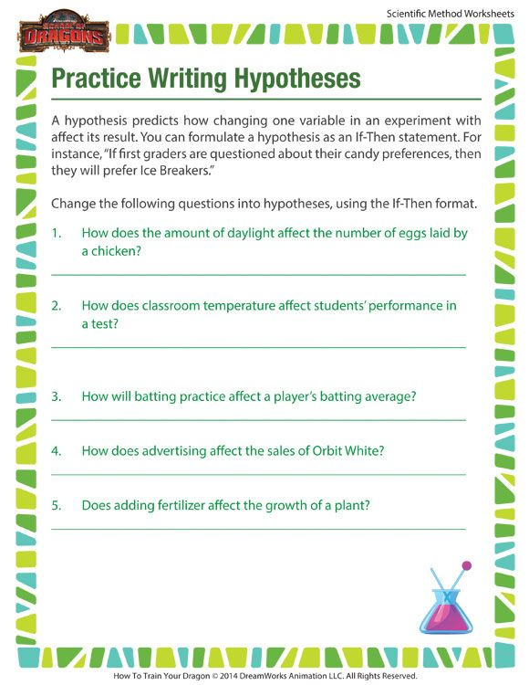 Practice Writing Hypotheses