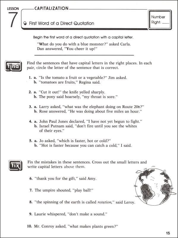 Practicing Capitalization & Punctuation Grade 6 (044813) Details