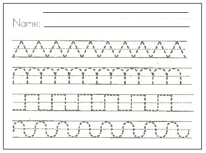 Preschool Writing Patterns, Writing Patterns Worksheets