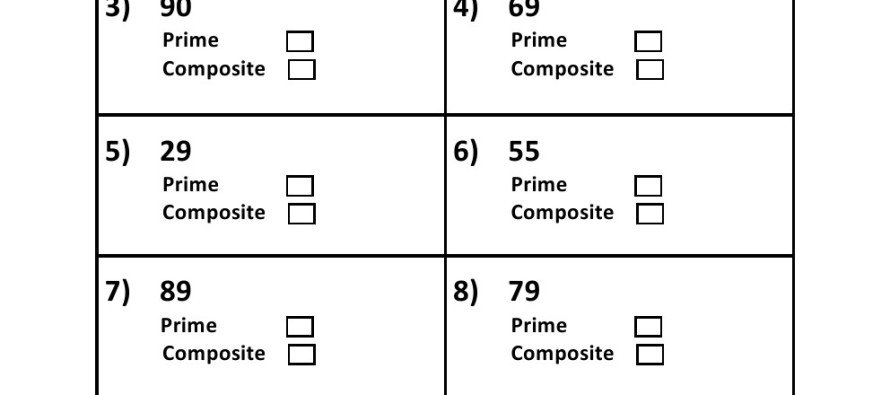 Prime Or Composite Worksheets Free Worksheets Library