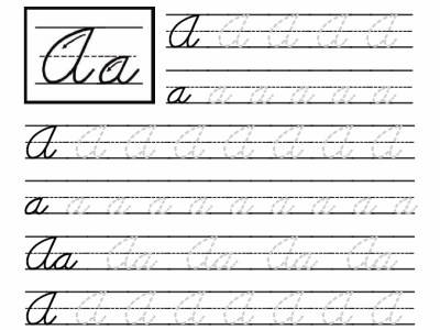 Printable Cursive Handwriting Worksheets Picture Delux For Grade
