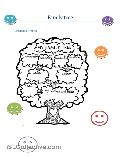 Printable Family Tree For Preschool