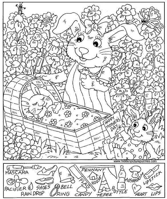 Printable Hidden Pictures Worksheets Coloring Pages Printable Best
