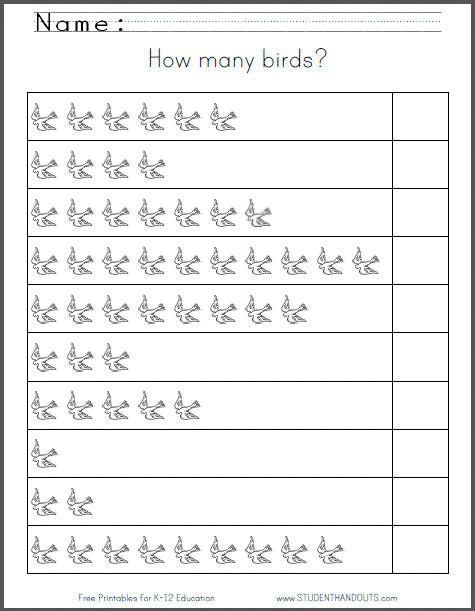 Printable Number Worksheets For Kindergarten Free Worksheets
