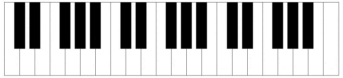 Printable Piano Keyboard Template