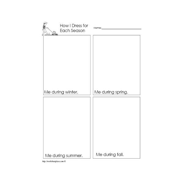 Printable Worksheets For Months And Seasons Of The Year  Download