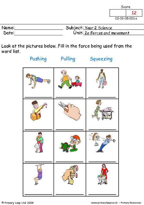 Push And Pull Worksheets Free Worksheets Library