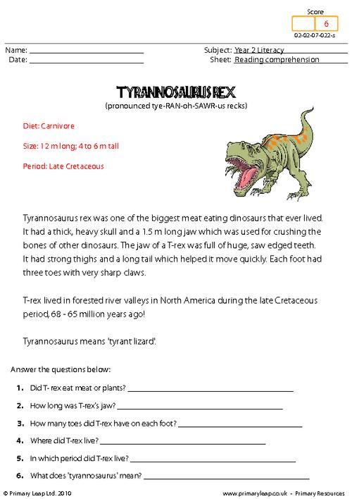 Reading And Comprehension Worksheets For Grade 2 Free Worksheets