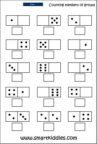Recognizing A Dot Pattern, Mathematics Skills Online, Interactive