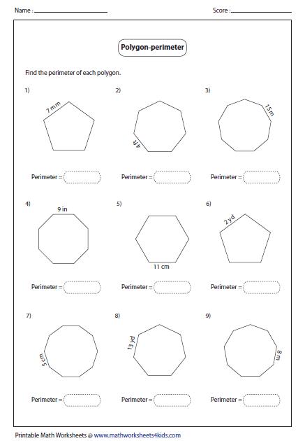 Regular And Irregular Polygons Worksheet Free Worksheets Library