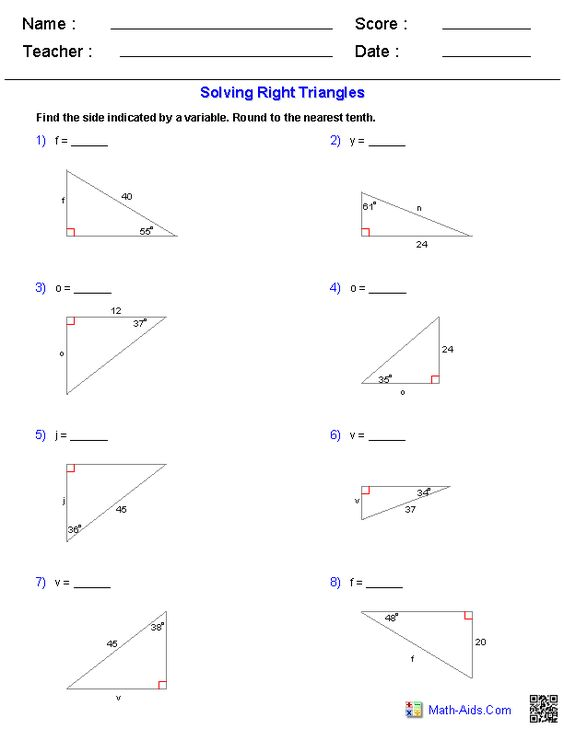 Right Angle Trigonometry Worksheet Free Worksheets Library