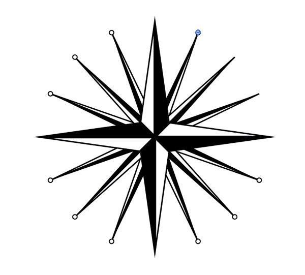 Rose Compass Drawing