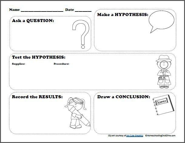 Scientific Method Worksheet For Kids