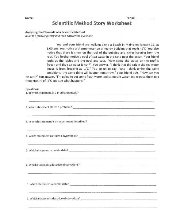 Scientific Method Worksheet Pdf Free Worksheets Library