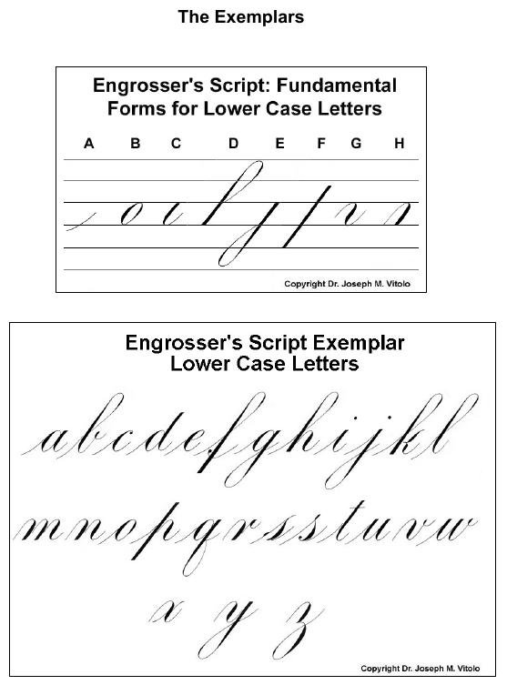 Script In The Copperplate Style  Engrosser's Script
