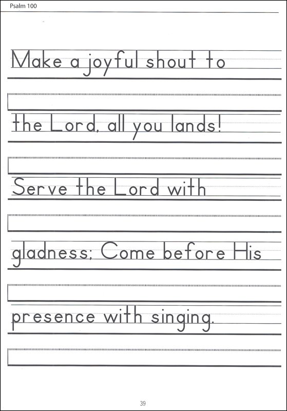 Scripture Character Writing Worksheets Zaner