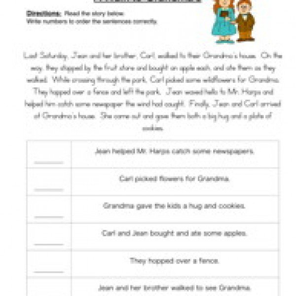 Sequencing Worksheets For 2nd Grade Free Worksheets Library