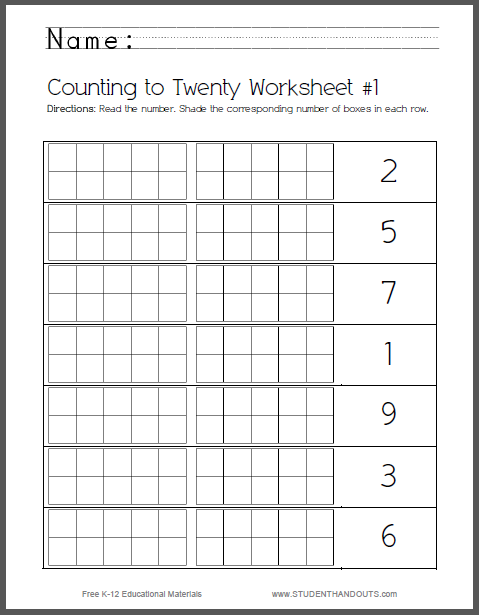 Set Of 8 Counting