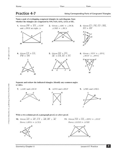 Similar And Congruent Triangles Worksheet Free Worksheets Library