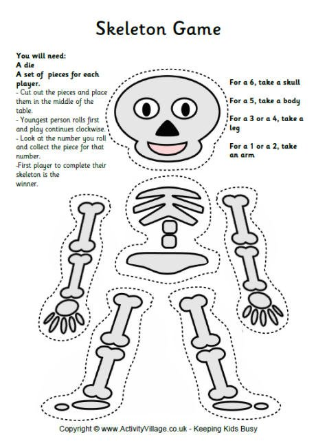 Skeleton Worksheet Printable Free Worksheets Library