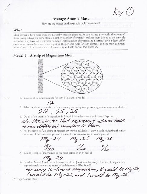 Skills Calculating Average Atomic Mass Worksheet Q4 Youtube