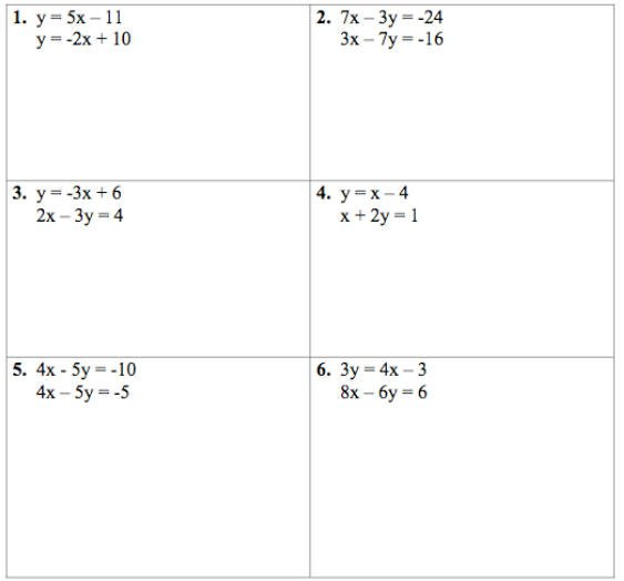 Solving Systems Of Equations Worksheets Free Worksheets Library