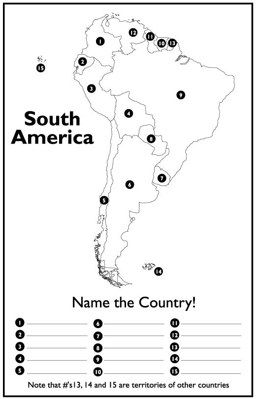 South America Map Worksheet Free Worksheets Library