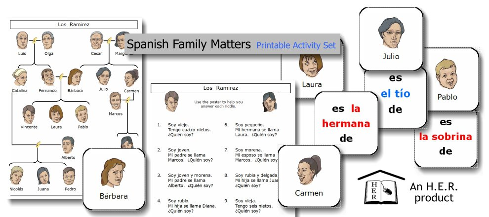 Spanish Family Matters Printable Activity Set – Home Education