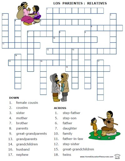 Spanish Family Tree Worksheet Free Worksheets Library