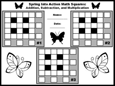 Spring Math Teaching Resources For April, May, And Springtime