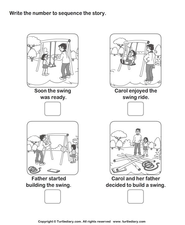 Story Sequencing Carol And Swing Worksheet