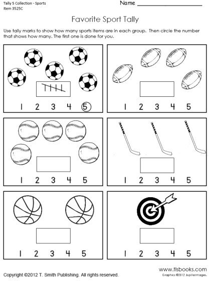 Tally Marks To 5 Worksheet Collection
