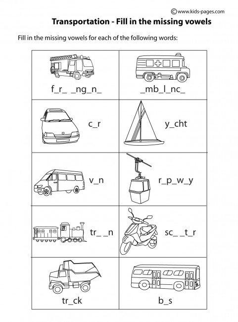 Transportation Worksheets For Kindergarten Free Worksheets Library