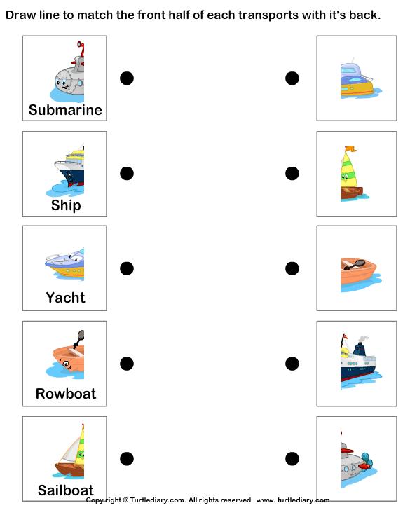 Water Transportation Worksheet