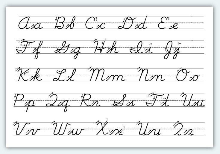 Weng Zaballa  Cursive Handwriting Practice Sheets