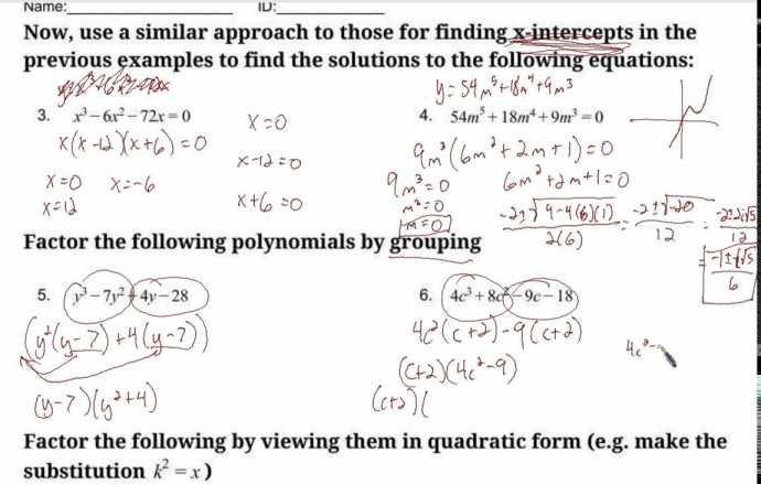 Worksheet Templates   Polynomial Equations Worksheet Solving