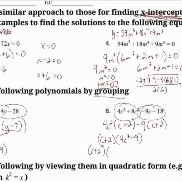 Worksheet Templates   Solving Polynomial Equations Worksheet