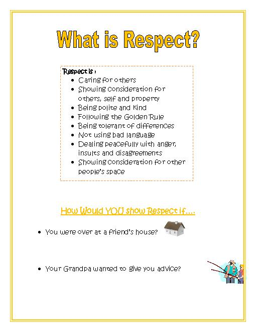 Worksheets On Respect Free Worksheets Library