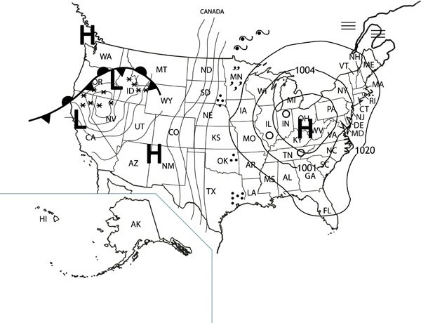 Yes! How To Read A Weather Map, Printable With Questions And