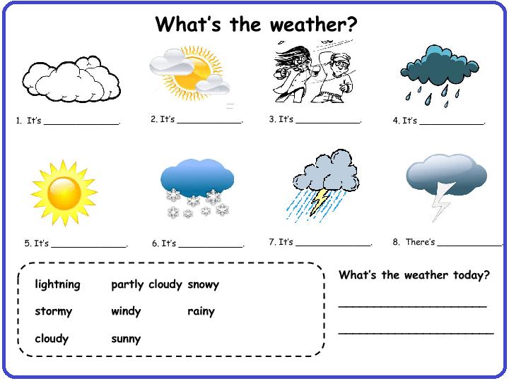 1st Grade Weather Worksheets Worksheets For All