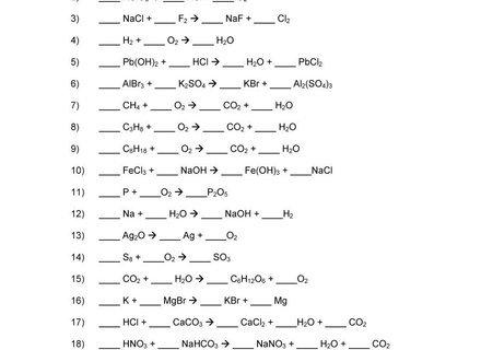 28 Balancing Chemical Equations Worksheets, Balancing Equations