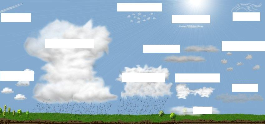 4 Cloud Types  Using Different Craft Materials To Illustrate Each