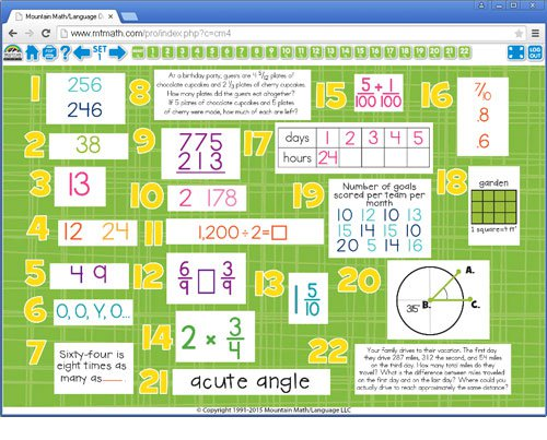 4th Grade Common Core Math Spiral Review For Interactive Whiteboard