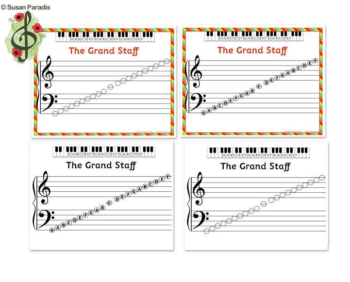 A Handy Set Of Grand Staff Printables
