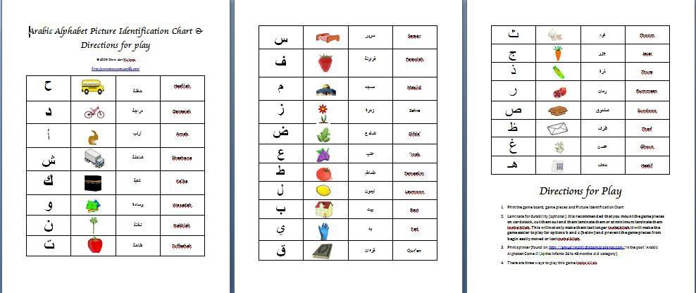 A Muslim Child Is Born  Arabic Alphabet Game Ii