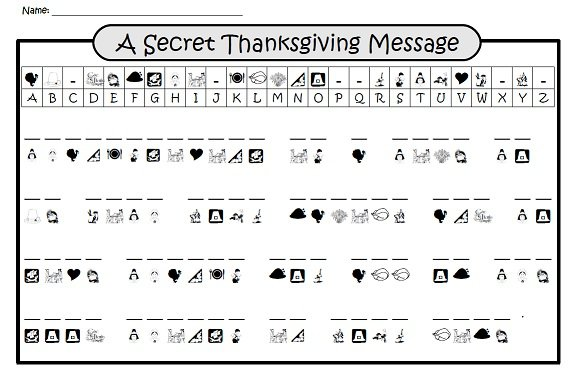 A Secret Thanksgiving Message