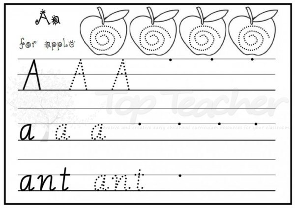 A Z Handwriting Sheets Easy Top Teacher Innovative And Easy